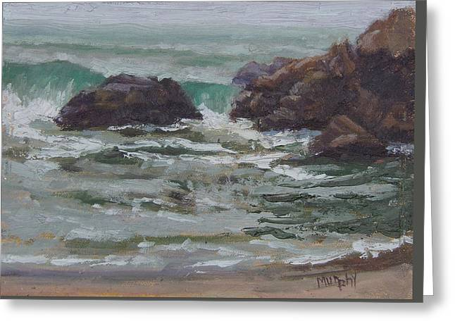 Pfeiffer Beach Greeting Card by Michelle Murphy-Ferguson