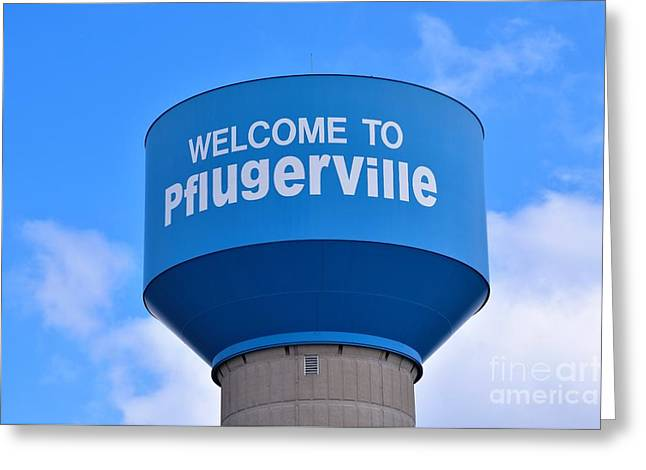 Pflugerville Texas - Water Tower Greeting Card