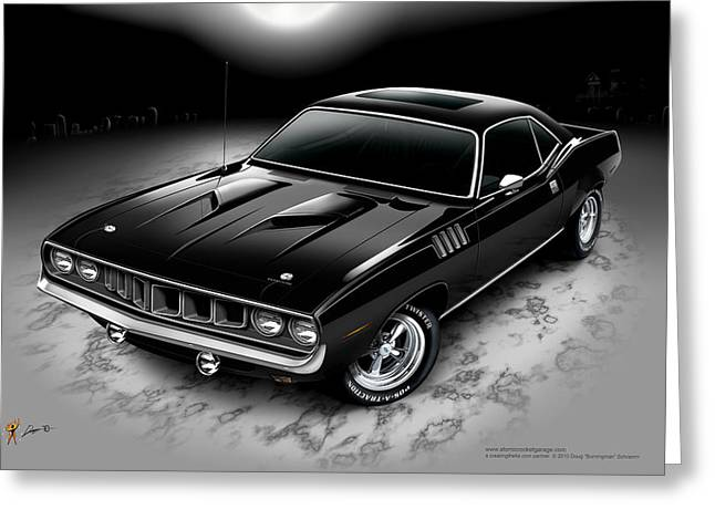 Phantasm 71 Cuda Greeting Card
