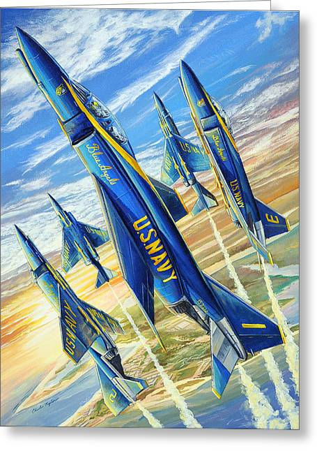 Flight Drawings Greeting Cards - Phantom Angels Greeting Card by Charles Taylor