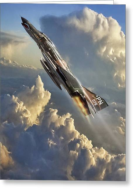 Phantom Cloud Break Greeting Card by Peter Chilelli