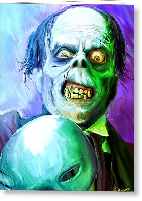 Phantom Of The Opera Mark Spears Monsters Greeting Card by Mark Spears