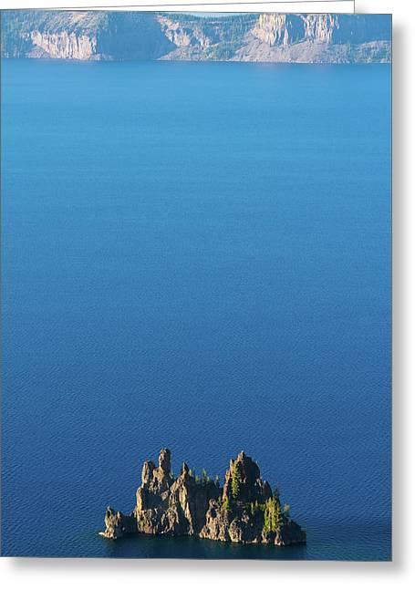 Phantom Ship Island Crater Lake National Park Oregon 2 Greeting Card