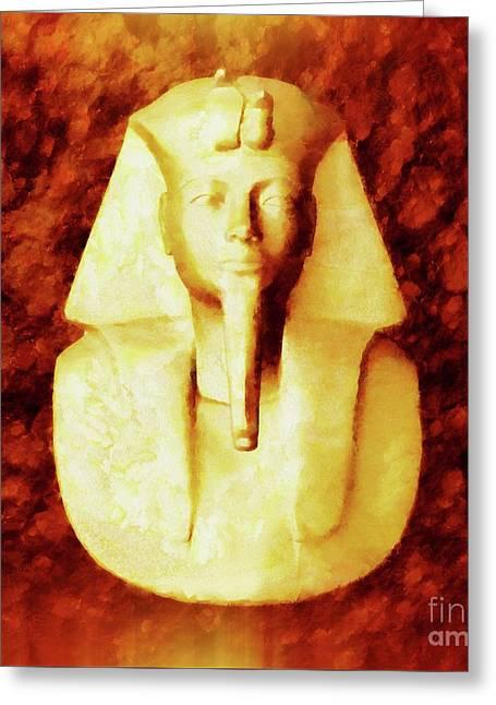 Pharaoh By Sarah Kirk Greeting Card