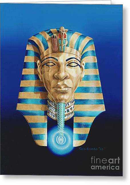 Pharaoh Greeting Card by George Combs