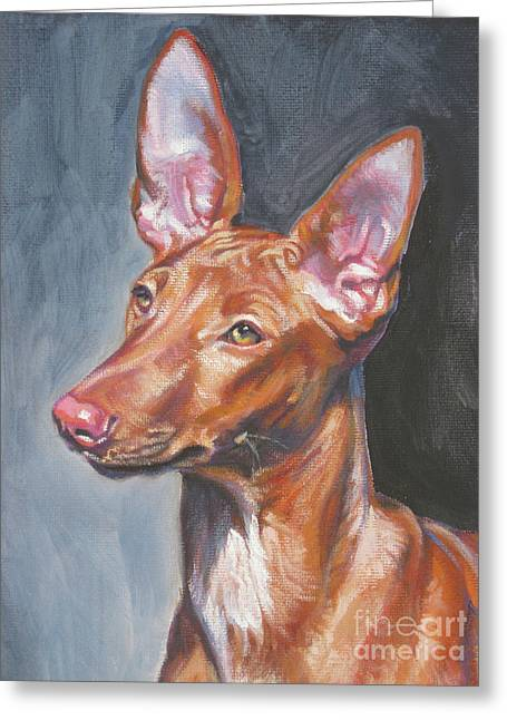 Pharaoh Hound Greeting Card by Lee Ann Shepard