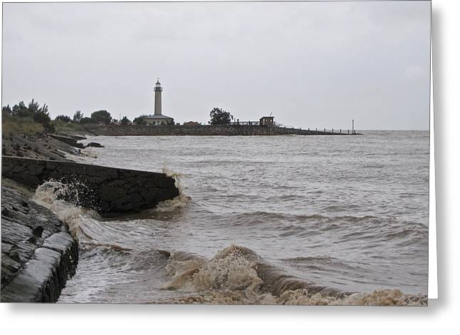 Greeting Card featuring the photograph phare de Richard by Marc Philippe Joly