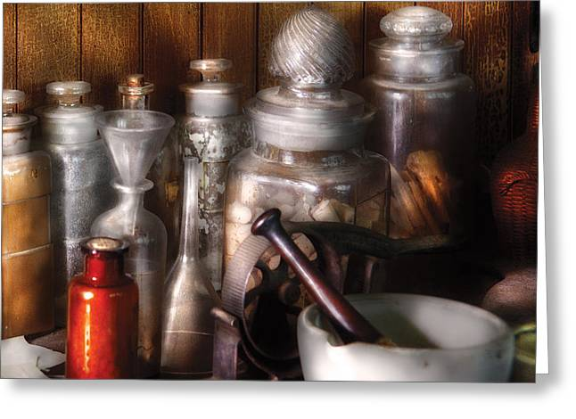 Pharmacist - Tools Of The Pharmacist  Greeting Card by Mike Savad