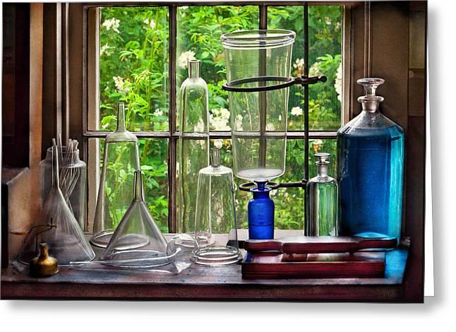 Pharmacy - Pharmaceuti-tools Greeting Card by Mike Savad