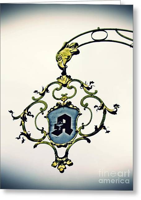 Pharmacy Sign In Wiesbaden      Greeting Card by Sarah Loft