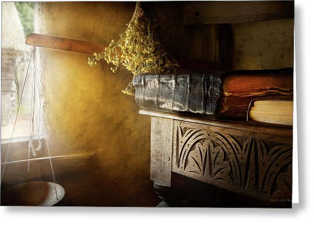 Greeting Card featuring the photograph Pharmacy - The Apothecarian by Mike Savad
