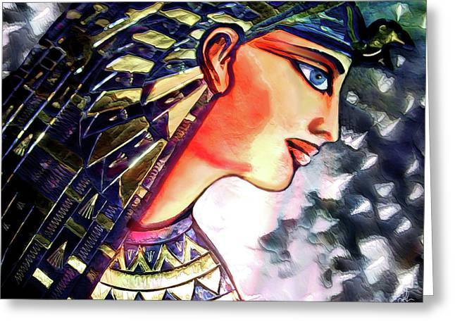 Greeting Card featuring the digital art Pharoah Of Egypt by Pennie  McCracken