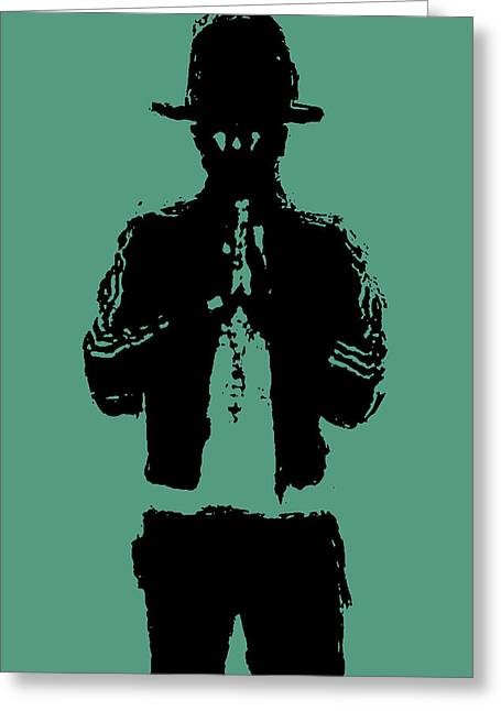 Pharrell Williams 2 Greeting Card by Brian Reaves