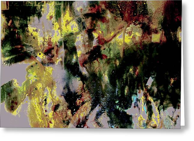 Pharrell Williams Paint Splats Greeting Card