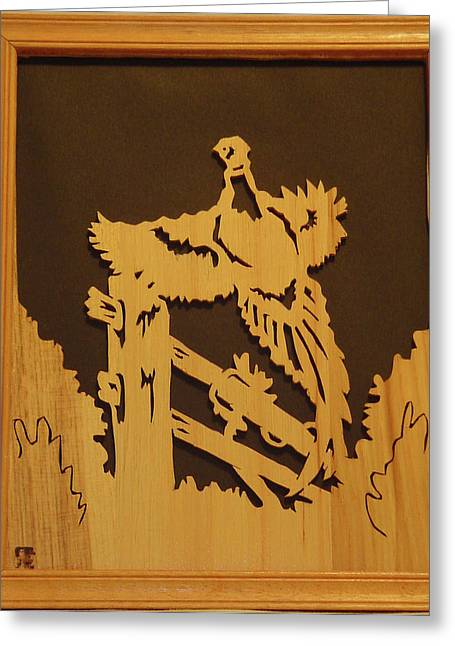 Game Bird Sculptures Greeting Cards - Pheasant taking off Greeting Card by Russell Ellingsworth