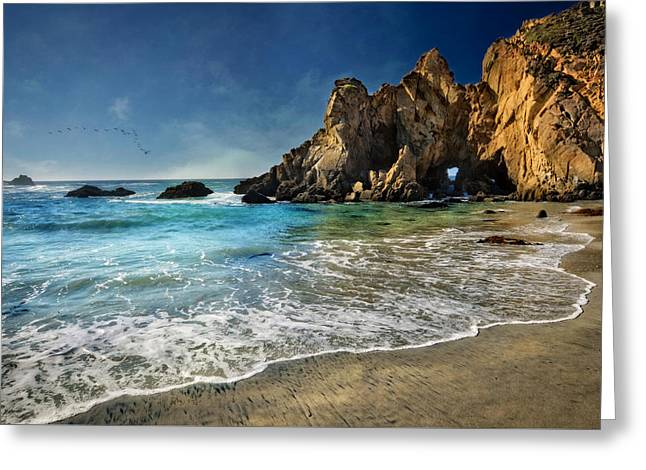 Pheiffer Beach #9- Big Sur California Greeting Card