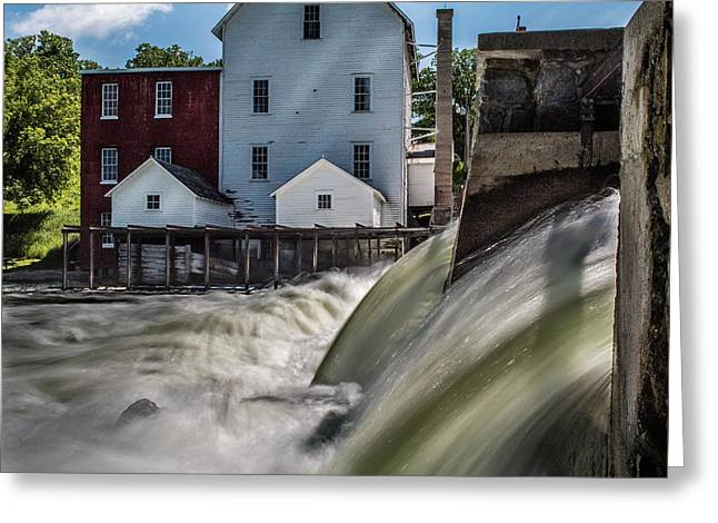 Phelps Mill Falls Greeting Card by Paul Freidlund