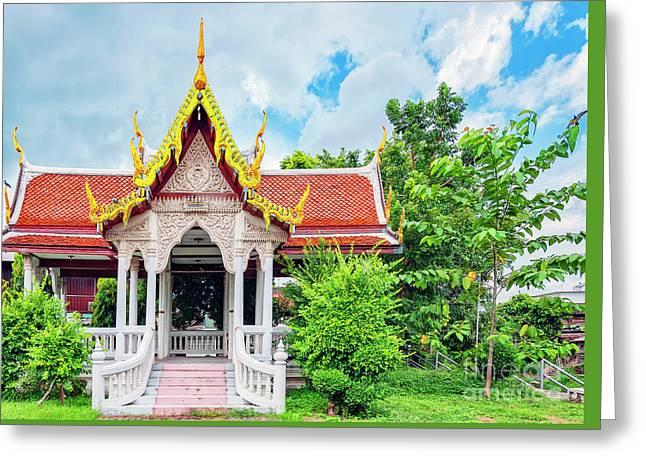 Phetchaburi Temple Greeting Card by Antony McAulay