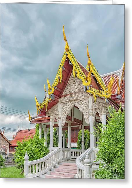 Phetchaburi Temple In Thailand Greeting Card by Antony McAulay