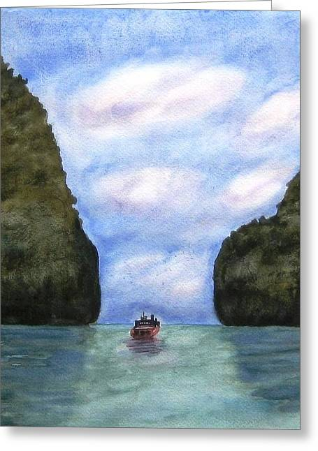 Phi Phi Islands Greeting Card by Monika Deo