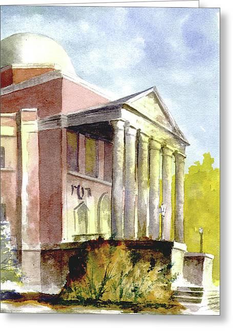 Phifer Hall, University Of Alabama Greeting Card by Jim Stovall