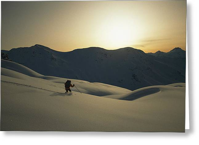 Phil Atkinson Skiing The Purcell Greeting Card by Tim Laman
