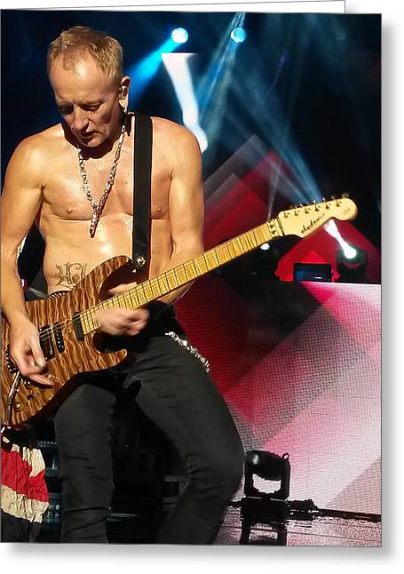 Phil Collen Of Def Leppard 2 Greeting Card by David Patterson