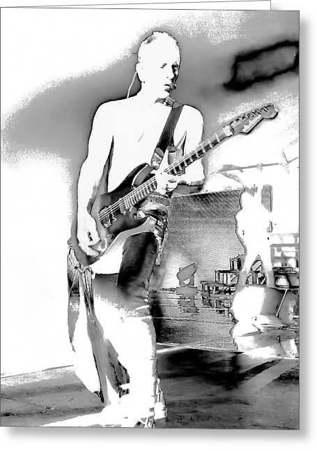 Phil Collen Of Def Leppard Greeting Card by David Patterson