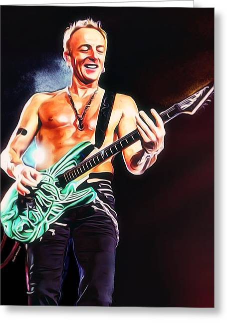Phil Collen Portrait Greeting Card by Scott Wallace