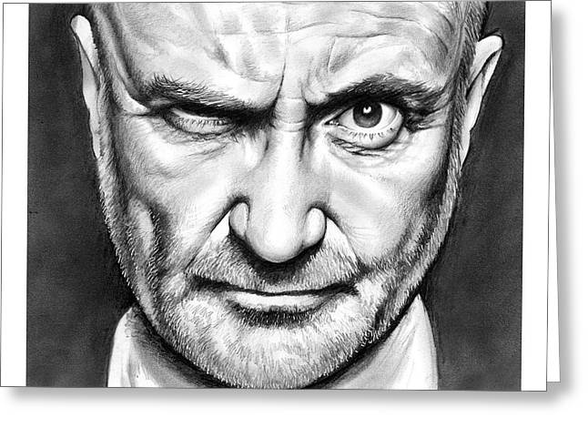 Phil Collins Greeting Card by Greg Joens