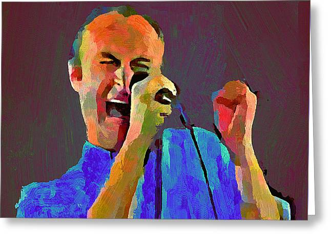 Phil Collins Tonight Tonight Greeting Card
