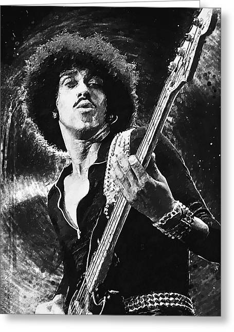 Phil Lynott Greeting Card