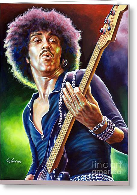 Phil Lynott Thin Lizzy Greeting Card