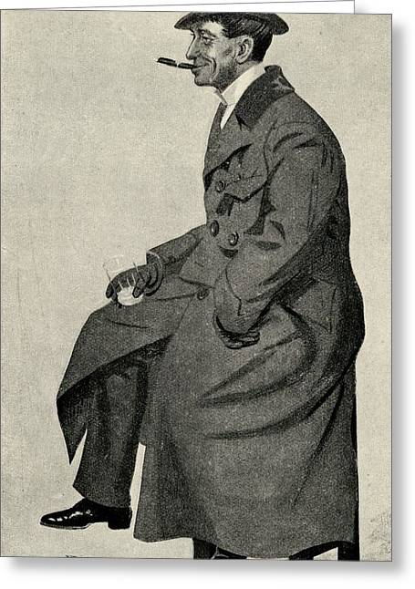 Phil May 1864 1903 English Caricaturist Greeting Card
