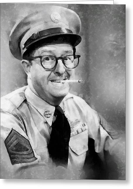 Phil Silvers By John Springfield Greeting Card by John Springfield
