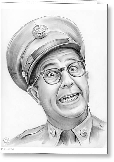 Phil Silvers Greeting Card by Greg Joens