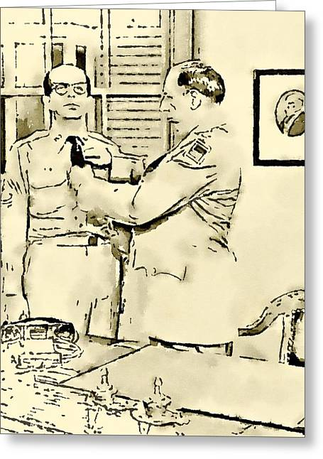 Phil Silvers Sargent Bilko Greeting Card by John Springfield