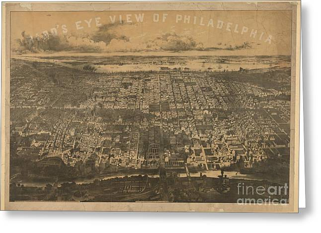 Philadelphia 1868 Greeting Card by Baltzgar