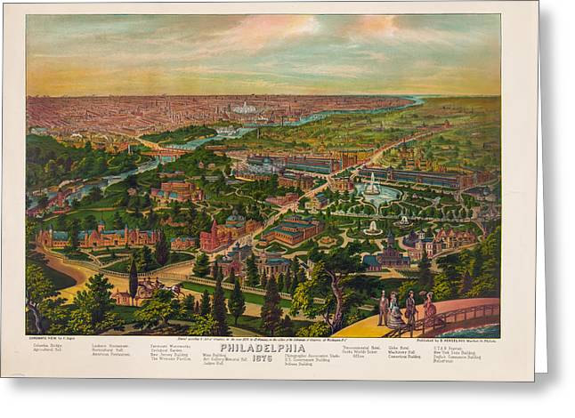 Philadelphia 1876 Greeting Card by Bill Cannon