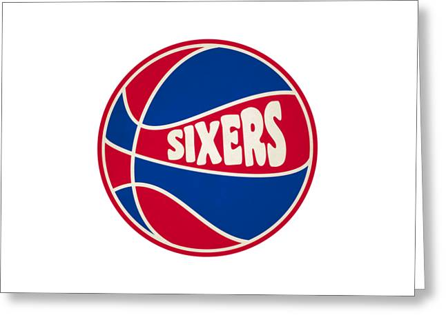 Philadelphia 76ers Retro Shirt Greeting Card by Joe Hamilton