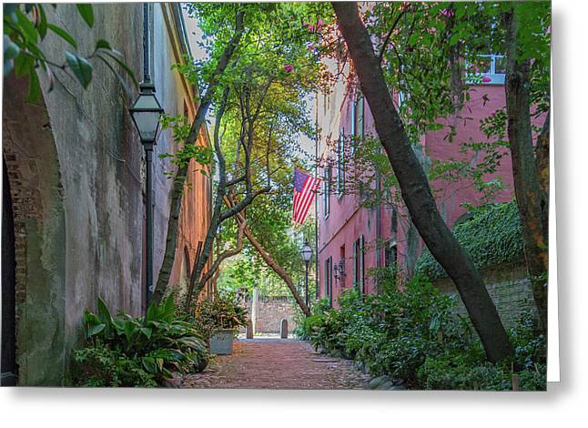 Philadelphia Alley Charleston Greeting Card