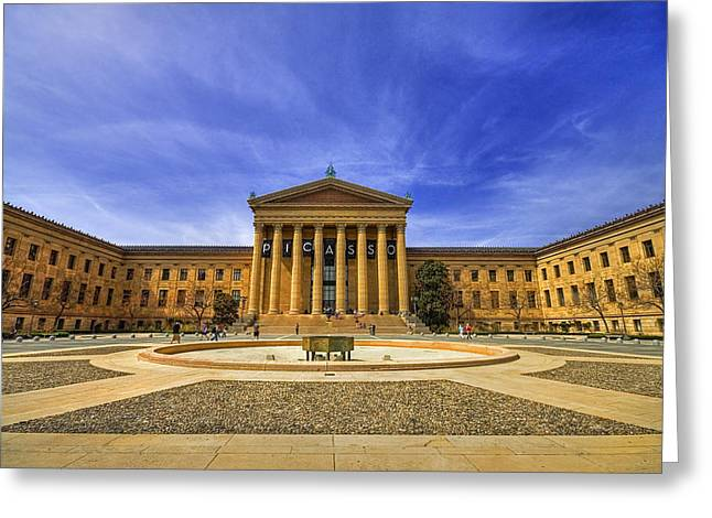 Philadelphia Art Museum Greeting Card by Evelina Kremsdorf
