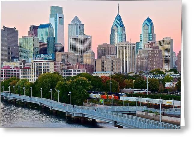 Philadelphia At Sundown Greeting Card
