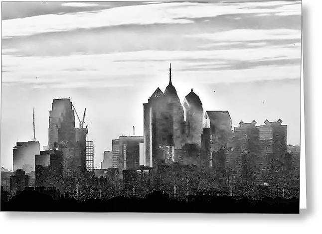 Philadelphia Greeting Card by Bill Cannon