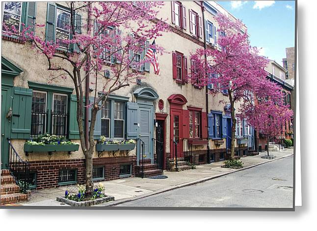 Greeting Card featuring the photograph Philadelphia Blossoming In The Spring by Bill Cannon