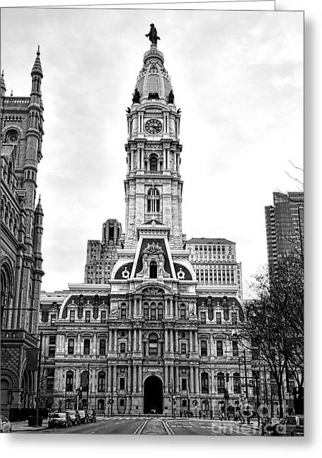 Philadelphia City Hall Building On Broad Street Greeting Card