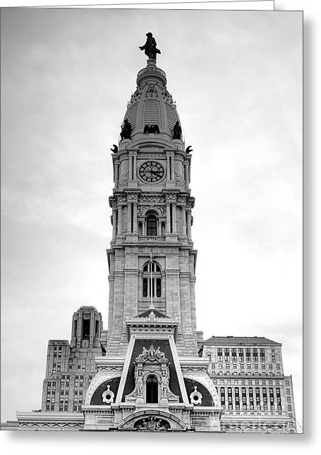Philadelphia City Hall Tower Greeting Card by Olivier Le Queinec