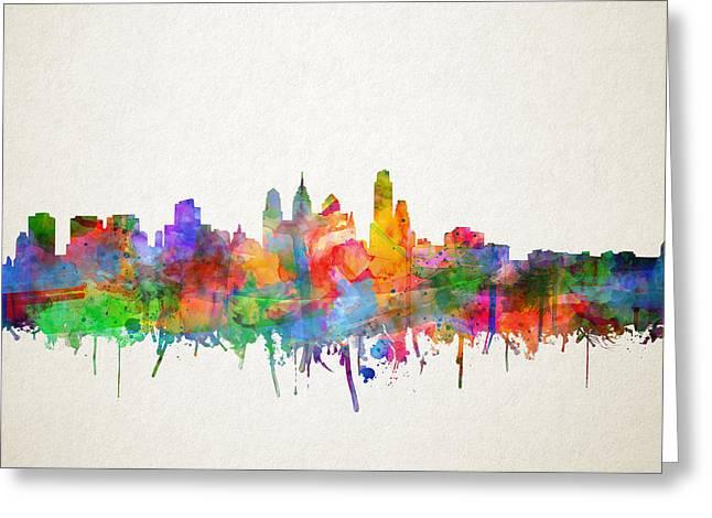 Philadelphia City Skyline 4 Greeting Card