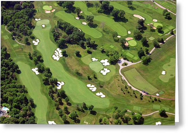 Aerials Of Philly Cricket Greeting Cards - Philadelphia Cricket Club Militia Hill Golf Course 6th Hole 2 Greeting Card by Duncan Pearson