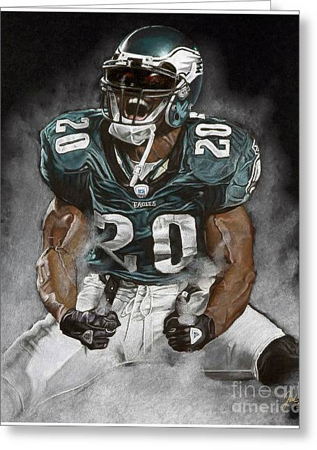 Philadelphia Eagles Brian Dawkins The Legend Greeting Card